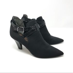 Donald J Pliner Ankle Strap Cut Out Booties Black